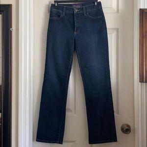 NYDJ, denim straight leg jeans. 0P